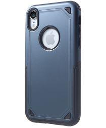Apple iPhone XR Stevig Hybride Hoesje Blauw
