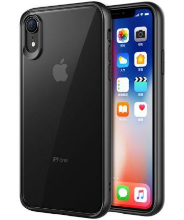 Apple iPhone XR Transparant Hybride Hoesje Zwart