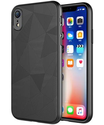Apple iPhone XR Driehoek TPU Hoesje Zwart