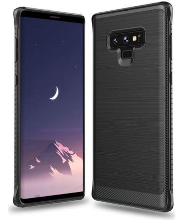 Samsung Galaxy Note 9 Geborsteld Hybride Hoesje Zwart