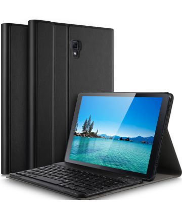 Samsung Galaxy Tab A 10.5 (2018) Bookcase met Toetsenbord Zwart