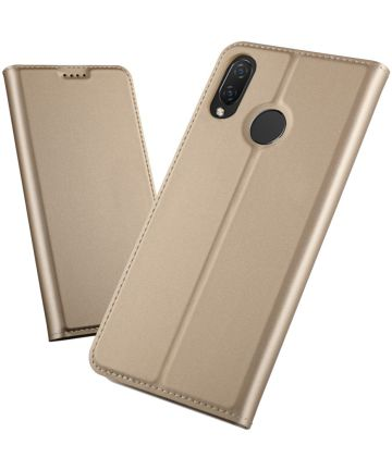 Huawei P Smart Plus Luxe Portemonnee Hoesje Goud