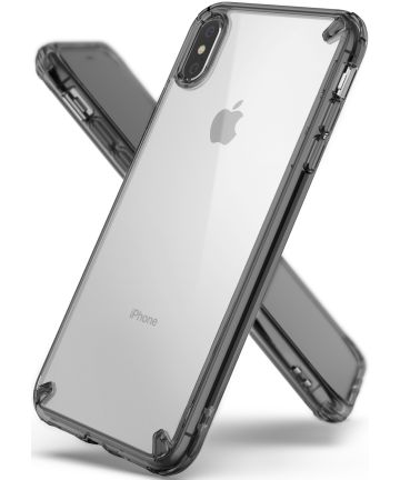 Ringke Fusion Apple iPhone XS Max Smoke Black Hoesjes