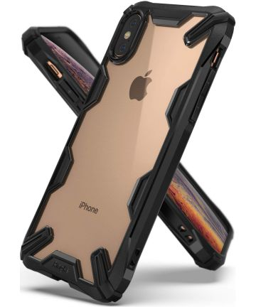 Ringke Fusion X Apple iPhone XS Hoesje Doorzichtig Zwart