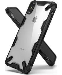 Ringke Fusion X Apple iPhone XS Max Hoesje Doorzichtig Zwart