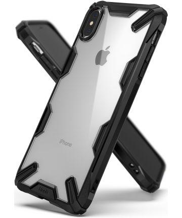 Ringke Fusion X Apple iPhone XS Max Hoesje Doorzichtig Zwart Hoesjes