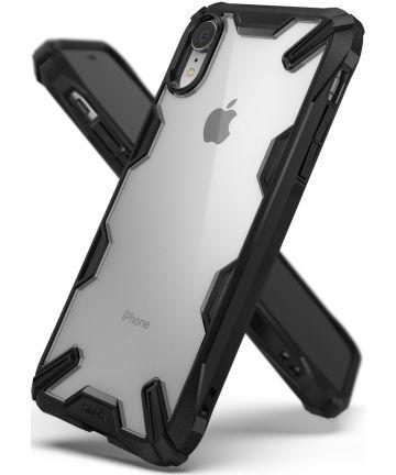 Ringke Fusion X Apple iPhone XR Hoesje Doorzichtig Zwart Hoesjes
