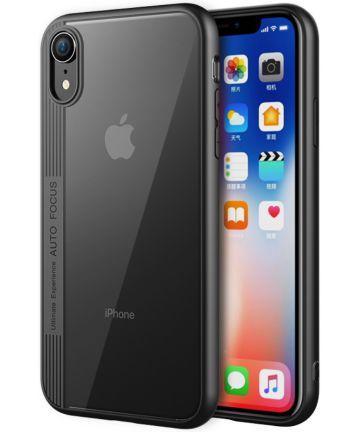 Apple iPhone XR Hoesje Armor Backcover Zwart Hoesjes