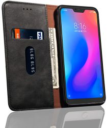 Xiaomi Mi A2 Lite Retro Portemonnee Hoesje Zwart