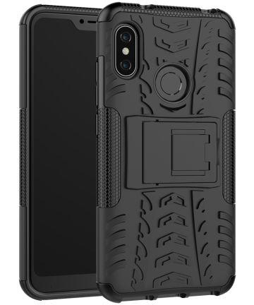Xiaomi Mi A2 Lite Robuust Hybride Hoesje Zwart Hoesjes