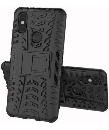 Xiaomi Mi A2 Robuust Hybride Hoesje Zwart
