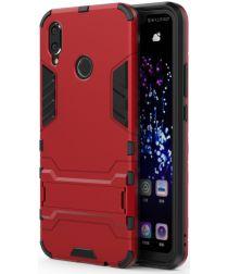 Huawei P Smart+ Hybride Stand Hoesje Rood