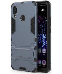 Huawei P Smart+ Hybride Stand Hoesje Blauw