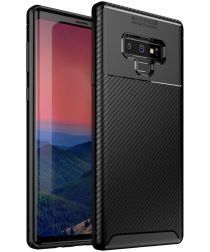Samsung Galaxy Note 9 Siliconen Carbon Hoesje Zwart