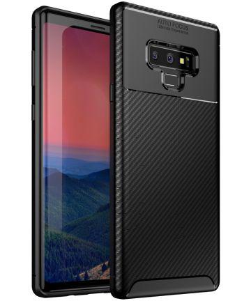 Samsung Galaxy Note 9 Siliconen Carbon Hoesje Zwart Hoesjes