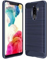 Xiaomi Pocophone F1 Brushed TPU Hoesje Blauw