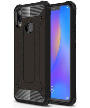 Huawei P Smart Plus Hybride Hoesje Zwart Hoesjes