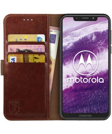 Rosso Element Motorola One Hoesje Book Cover Bruin