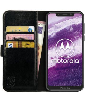 Rosso Element Motorola One Hoesje Book Cover Zwart Hoesjes