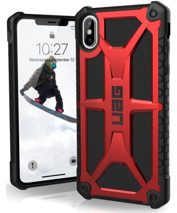 Urban Armor Gear Monarch Hoesje Apple iPhone XS Max Crimson Hoesjes