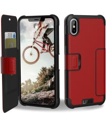 Urban Armor Gear UAG Metropolis Hoesje Apple iPhone XS Max Magma