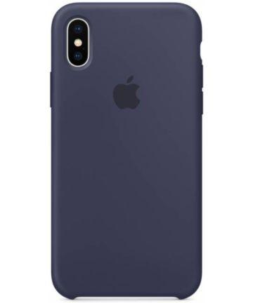 Apple iPhone X Siliconen Case Origineel Midnight Blue Hoesjes