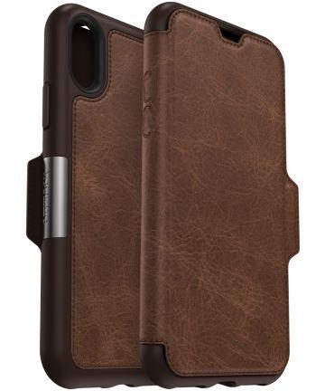 Otterbox Strada Series Apple iPhone XS / X Hoesje Book Case Espresso Hoesjes