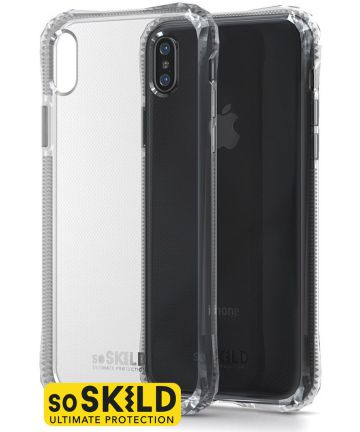SoSkild Apple iPhone XS Max Transparant Hoesje Absorb Impact Backcover Hoesjes