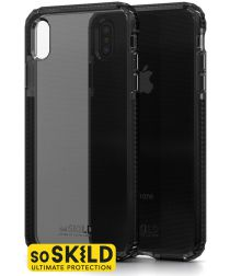 SoSkild iPhone XS Max Grijs Hoesje Defend Heavy Impact Backcover