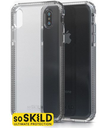 SoSkild iPhone XS Max Transparant Hoesje Defend Heavy Impact Backcover Hoesjes