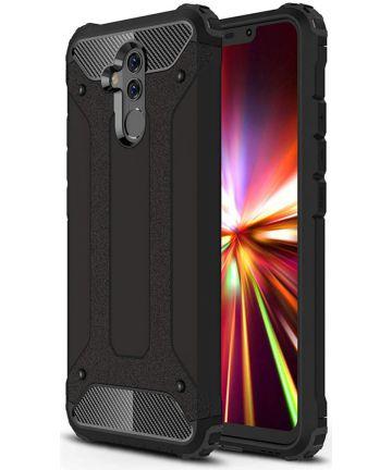 Huawei Mate 20 Lite Hybride Hoesje Zwart Hoesjes