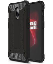 OnePlus 6T Hybride Hoesje Zwart