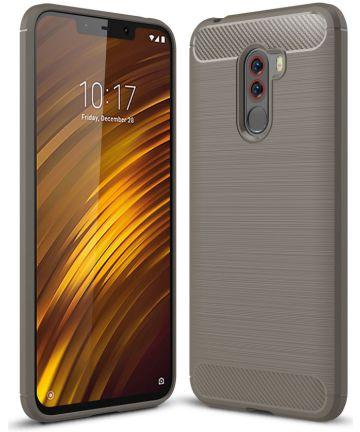 Xiaomi Pocophone F1 Brushed TPU Hoesje Grijs Hoesjes