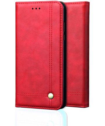 Xiaomi PocoPhone F1 Hoesje met Kaarthouder Rood Hoesjes