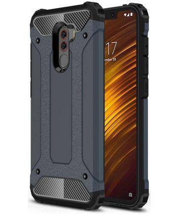 Xiaomi PocoPhone F1 Hybride Hoesje Donker Blauw Hoesjes