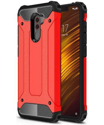 Xiaomi PocoPhone F1 Hybride Hoesje Rood Hoesjes