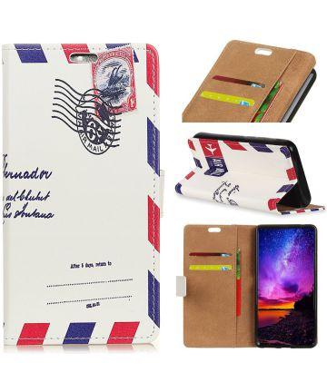 Huawei Mate 20 Lite Bookcase Hoesje met Print Postcard