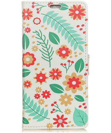 Huawei Mate 20 Lite Bookcase Hoesje met Print Bloemen