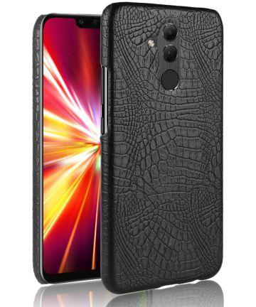 Huawei Mate 20 Lite Hoesje met Krokodil Textuur Zwart Hoesjes