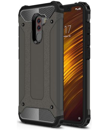 Xiaomi PocoPhone F1 Hybride Hoesje Grijs