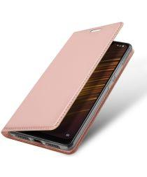 Dux Ducis Xiaomi Pocophone F1 Premium Bookcase Hoesje Roze Goud