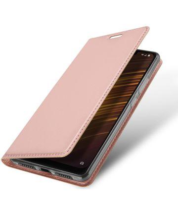 Dux Ducis Xiaomi Pocophone F1 Premium Bookcase Hoesje Roze Goud Hoesjes