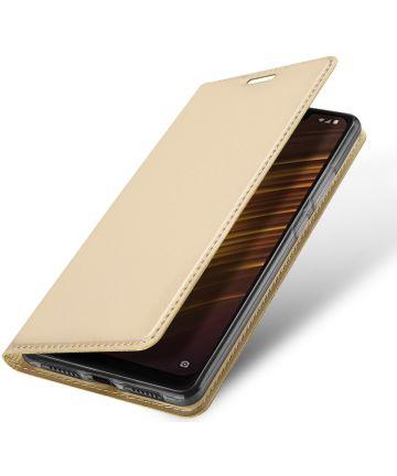 Dux Ducis Xiaomi Pocophone F1 Premium Bookcase Hoesje Goud Hoesjes