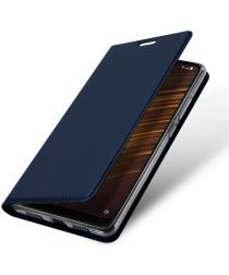 Dux Ducis Xiaomi Pocophone F1 Premium Bookcase Hoesje Blauw
