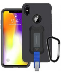 Armor X BX-Series Apple iPhone XS Max Robuust Hoesje Transparant Zwart