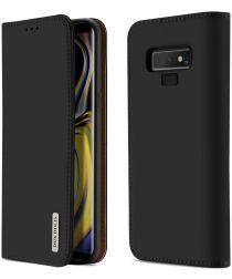 Dux Ducis Luxe Book Case Samsung Galaxy Note 9 Hoesje Echt Leer Zwart