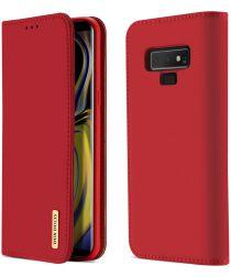 Dux Ducis Luxe Book Case Samsung Galaxy Note 9 Hoesje Echt Leer Rood