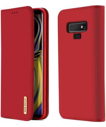 Dux Ducis Luxe Book Case Samsung Galaxy Note 9 Hoesje Echt Leer Rood Hoesjes