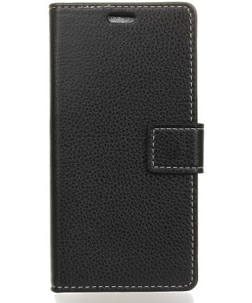 Nokia 3.1 Hoesje met Kaarthouder Zwart