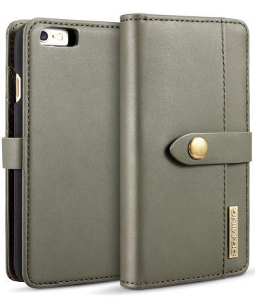 Apple iPhone 6s Echt Leren 2-in-1 Bookcase en Back Cover Hoesje Groen Hoesjes